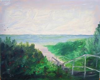 James Emerson; Maine Beach Walk In August, 2012, Original Painting Oil, 18 x 24 inches. Artwork description: 241    Perfect place for a beach walk in the heat of August in Maine    ...
