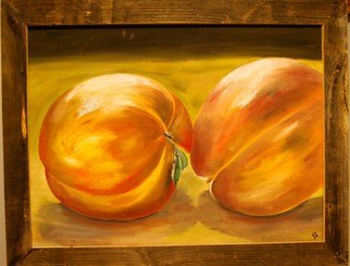 James Emerson; Peaches , 2012, Original Painting Oil, 18 x 24 inches. Artwork description: 241  Peaches on table      ...