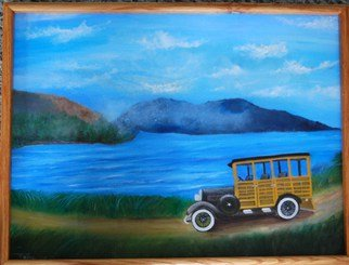 James Emerson; Woody, 2009, Original Painting Oil, 18 x 24 inches. Artwork description: 241  The surfers wagon, the woody              ...