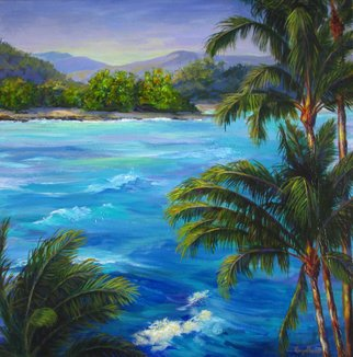 Pat Heydlauff; Maui Waves, 2011, Original Painting Acrylic, 24 x 24 inches. Artwork description: 241   When the surf's up and the trade winds blow, the ocean celebrates with beautiful waves that glisten in the sun.   ...