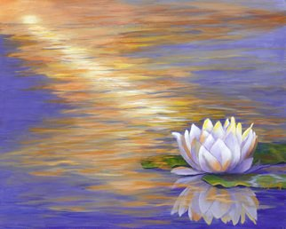 Pat Heydlauff; Tranquil, 2016, Original Painting Acrylic, 20 x 16 inches. Artwork description: 241 Tranquil with its beautiful color reflective lotus flower is the profound and powerful life- force energy that brings everything into existence and it is the alignment that allows all of us to bloom and be tranquil or at peace....