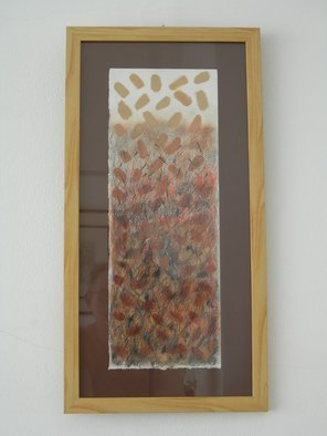 Phillip Flockhart; coffee bean jump, 2008, Original Painting Other, 12 x 23 inches. Artwork description: 241 Mixed media on paper framed  Original Title Re Ochre 1 ...