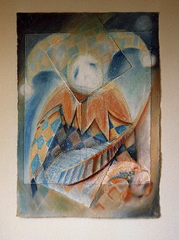 Phillip Flockhart; jester v, 1998, Original Drawing Other, 25 x 30 inches. Artwork description: 241 Full Title Jester V The Fisher King Mixed Media on paper framed . . .Exhibited UK 1999 and 2002. ...
