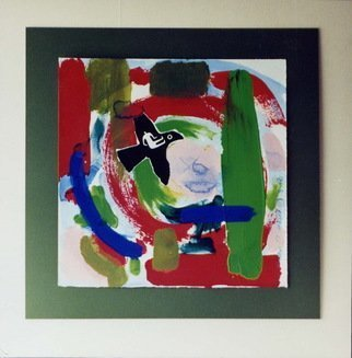 Phillip Flockhart; thunderbird, 1988, Original Painting Other, 18 x 18 inches. Artwork description: 241 Mixed Media on paper- framed...