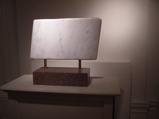 Phil Parkes; Flow   Marble And Granite, 2007, Original Sculpture Stone, 24 x 22 inches. Artwork description: 241  Beautiful simple flowing white Vermont marble mounted 'suspended' above granite base ...