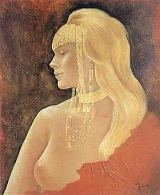 Philip Hallawell, 'Helen Of Troy II', 1987, original Painting Oil, 40 x 50  cm. Artwork description: 2793 Part of the Iliad series, this painting depicts Helen of Troy. Part of the Denise Quadrado collection. ...