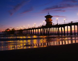 Timothy Oleary; Huntington Beach Sunset, 2008, Original Photography Other, 11 x 14 inches. Artwork description: 241  A vibrant california sunset at the Huntington Beach Pier, . ...