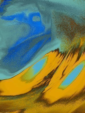 C. A. Hoffman, 'Blue Dune Surfer', 2010, original Digital Art, 8 x 10  inches. Artwork description: 5871  This is an original photo that has been digitally- painted to create an original work of art.                         ...