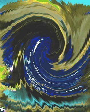 C. A. Hoffman, 'The Bluer Wave', 2010, original Digital Art, 8 x 10  inches. Artwork description: 6267  This is an original photo that has been digitally- painted to create an original work of art.                        ...