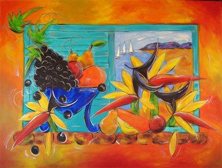Ms Sibraa; Bird Of Paradise View, 2009, Original Painting Other, 48 x 36 inches. Artwork description: 241  One of the series