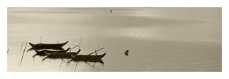 Jean Dominique  Martin, Laos Mekong River Fishing Boat, 2015, Original Photography Mixed Media,    cm