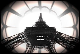 Jean Dominique  Martin, Paris Eiffel Tower , 2015, Original Photography Black and White,    cm