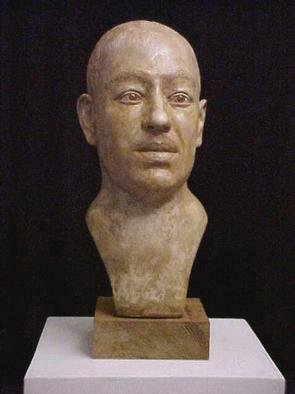 Pica Mertvago; Langston Hughes, 2001, Original Sculpture Other, 8 x 16 inches. Artwork description: 241 A portrait bust of the celebrated African- American poet, in patinated plaster. Also available in bronze....