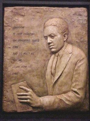 Pica Mertvago; Langston Hughes Relief, 2001, Original Sculpture Other, 20 x 24 inches. Artwork description: 241 A relief sculpture of the poet Langston Hughes as a young man, with his poem