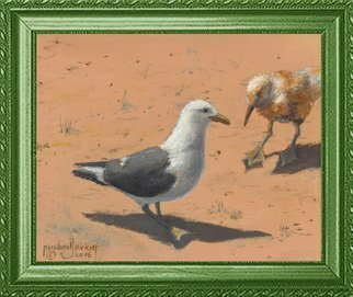 Michael Pickett; Bill And Sally Seagulls, 2016, Original Painting Acrylic, 10 x 8 inches. Artwork description: 241     You can learn how to paint Bill and Sally in acrylic, Go to pickettonline. com, click on ENTER, and on the top left corner click the You- Tube link.    ...