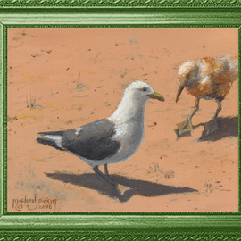 Michael Pickett, , , Original Painting Acrylic, size_width{Bill_and_Sally_Seagulls-1467683462.jpg} X 8 inches