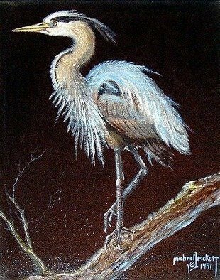 Michael Pickett, 'Bird', 1991, original Painting Acrylic, 11 x 14  x 2 inches. Artwork description: 4683  This is an old painting, for sale, sold as is. ...