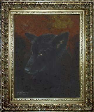 Michael Pickett; Coal, 2012, Original Painting Acrylic, 11 x 14 inches. Artwork description: 241   In Memory of Coal, the ashes were mixed into the paint to create a Memorial Portrait. Born December 2003 and Passed away November 12, at 3: 00pm, 2012.  ...