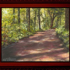 Michael Pickett, , , Original Painting Acrylic, size_width{Country_Road-1339818579.jpg} X 8 inches