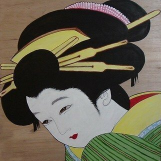 Michael Pickett, 'Geisha Girl ', 2012, original Painting Acrylic, 3 x 3  x 0.5 inches.