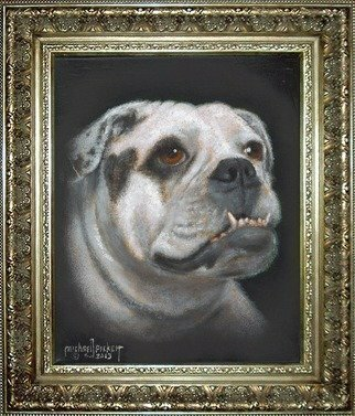 Michael Pickett; Izzablelle, 2013, Original Painting Acrylic, 8 x 10 inches. Artwork description: 241  Izzablelle is an English Bull Dog   ...