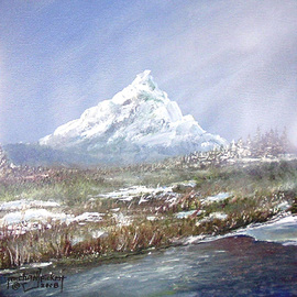 Michael Pickett, , , Original Painting Acrylic, size_width{Melting_Snow-1202046502.jpg} X 10 inches
