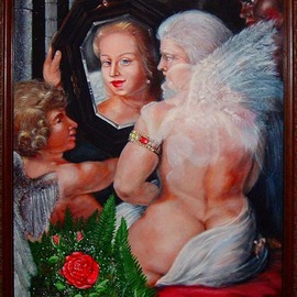 Michael Pickett, , 1998, Original Painting Acrylic, size_width{Modern_Toilet_of__Venus-1198574909.jpg} X 30 inches