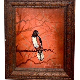 Michael Pickett, , , Original Painting Acrylic, size_width{Rufous_Sided_Towhee-1205044103.jpg} X 10 inches
