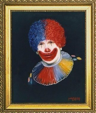 Michael Pickett, 'Self Portrait  As A Clown', 1992, original Painting Acrylic, 18 x 24  x 0.5 inches.