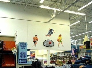 Michael Pickett, 'Sports Kids', 2001, original Painting Acrylic,    inches. Artwork description: 3495  This mural was commissioned by the west 11th Wal- Mart in Eugene, Oregon.Note: This is before they expanded to a super center. The mural no longer exist.  ...