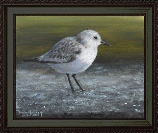 Michael Pickett, 'The Sanderling', 2011, original Painting Acrylic, 10 x 8  x 0.5 inches. Artwork description: 1911  The Sanderling is a small, light- colored sandpiper with a straight, black bill and black legs. The male and female look similar. For More Information Visit, www. birdweb. orgNOTE: You can learn how to paint this painting at www. pickettonline. com - Click Enter then on the ...