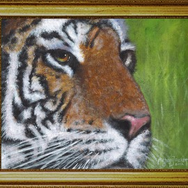 Michael Pickett, , , Original Painting Acrylic, size_width{Tiger-1330043298.jpg} X 8 inches