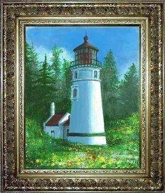 Michael Pickett; Umpqua River Lighthouse, 2013, Original Painting Acrylic, 8 x 10 inches. Artwork description: 241      You can learn how to paint The Umpqua River Lighthouse. Go to pickettonline. com, click on ENTER, and on the top left corner click on the You- Tube link.   ...