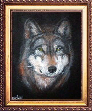 Michael Pickett, 'Wolfy', 2006, original Painting Acrylic, 11 x 14  x 1 inches. Artwork description: 3495  Commissioned, A faithful and loving pet. ...