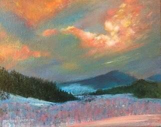 Michael Pickett; A Sunset Snow Scene, 2019, Original Painting Acrylic, 10 x 8 inches. Artwork description: 241 The is an art lesson, you can learn how to paint this yourself, Learn how to paint in Acrylic, go to www. pickettonline. com for more information, ...