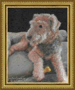 Michael Pickett; In Memory Of Sadie Lady, 2021, Original Painting Acrylic, 8 x 10 inches. Artwork description: 241 This is a commission  crematorium Painting of a beloved pet. .Her ashes were mixed into the acrylic paint to create a family heirloom ...