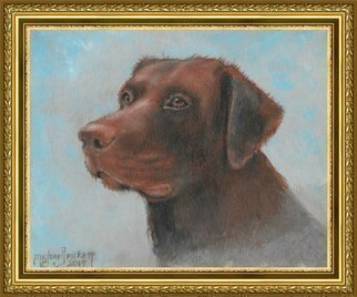 Michael Pickett; Lee Loo, 2019, Original Painting Acrylic, 10 x 8 inches. Artwork description: 241 Lee Loo is a Chocolate Lab. . Learn how to paint this painting at pickettonline. com...