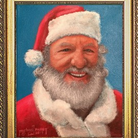 Michael Pickett, , , Original Painting Acrylic, size_width{real_santa-1512096381.jpg} X 10 inches