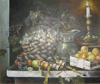 Nagy Alida; Still Life Oil Painting, 1998, Original Painting Oil, 65 x 56 cm. Artwork description: 241      Oil painting on canvas stretched on a wooden chassis.    ...