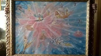 Pietro Di Giovannantonio; Lord Krishna And His Avatara, 2017, Original Painting Oil, 90 x 70 cm. Artwork description: 241 Lord Krishna and His emanaction. ISVARA PARAMA KRISHNA SACCIDANDA VIGRA ANADI ADI GOVINDAM...