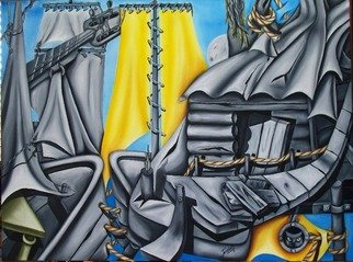 Jorge Diaz; Nosotros, 2007, Original Painting Oil, 36 x 48 inches. Artwork description: 241  fantasias ...