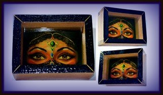 Olesya Novik; Eyes 3d, 2014, Original Mixed Media, 13 x 18 cm. Artwork description: 241  eyes, 3d picture, three- dimensional image, optical illusion, living picture, unique painting, exclusive , luxury, 3d art, resin, ...
