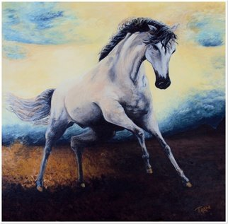 Plamena Georgieva; Angel Horse, 2013, Original Painting Acrylic, 50 x 50 cm. Artwork description: 241  Horse...
