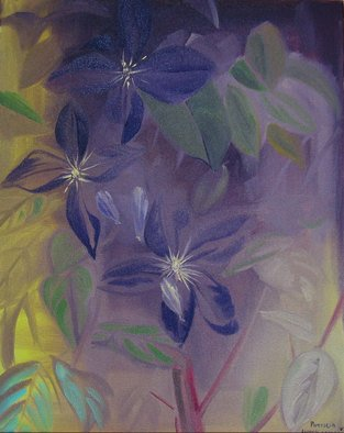 Patricia Larkin Green; Clematis, 2007, Original Painting Oil, 16 x 20 inches.