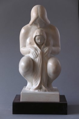 Penko Platikanov; Mother With Child, 2014, Original Sculpture Other, 18 x 9 inches.