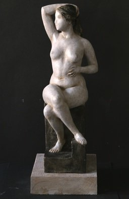 Penko Platikanov; Seated Woman, 2013, Original Sculpture Other, 10 x 20 inches.