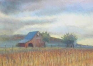 Paula Wilson; Grandpas Old Barn, 2002, Original Pastel, 11 x 7 inches. Artwork description: 241 Title: Grandpa' s old barn.  Soft pastel painting of an old barn on a rainy afternoon in autumn....