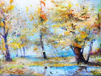 Oleg Poberezhnyi, Autumn tenderness, 2006, Original Painting Oil, size_width{Autumn_tenderness-1440595151.jpg} X 30 x  cm