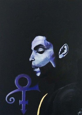 Joshua Polk; PolkTheArtist Purple Rain..., 2016, Original Painting Oil, 36 x 48 inches. Artwork description: 241  This is my tribute piece to the great late Prince. His music and diversity has bought so much culture and energy to music. He has broken barriers that many cannot fathom to understand. Thank you for your contribution to life as well as your legendary contribution in ...