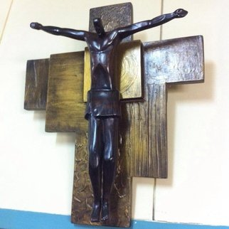 John Paul Dalisay; Kristo, 2015, Original Sculpture Wood, 2 x 2 feet. Artwork description: 241   Evony wood on textured panel   ...